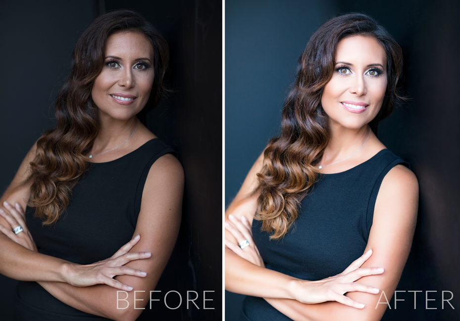 Before and After Headshot Photography