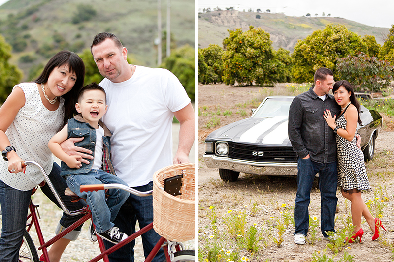 muscle car family portraits