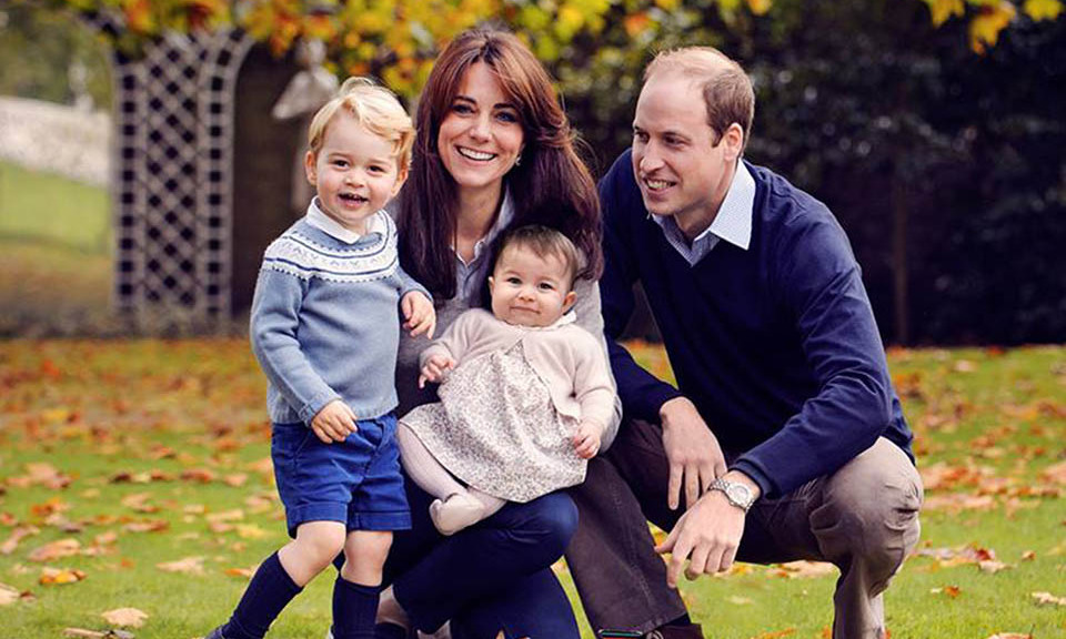 Prince William and Dutchess Kate with their children