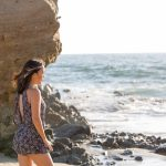 high school senior photography at orange county beach