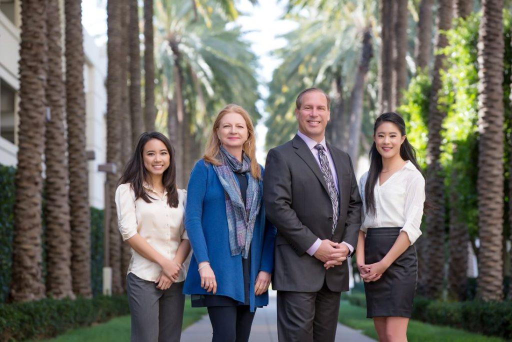 Orange county corporate headshots palm trees