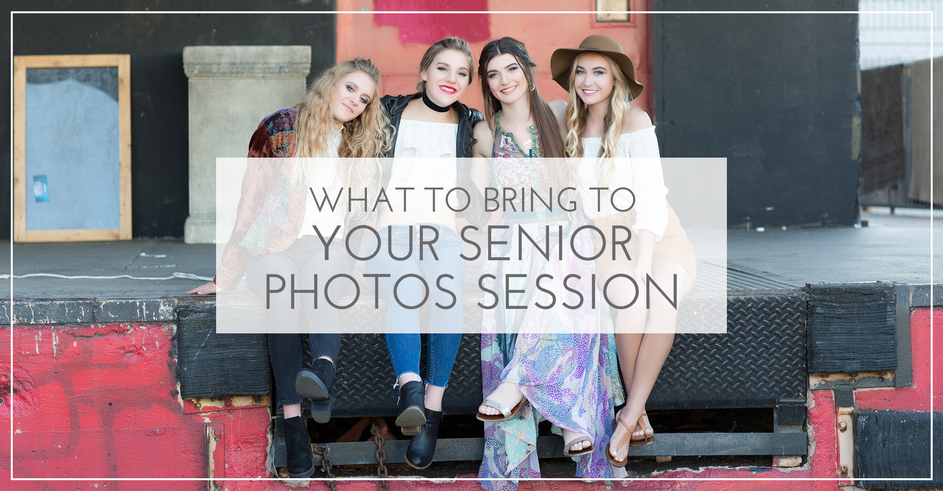 what to bring to your senior photos photography session