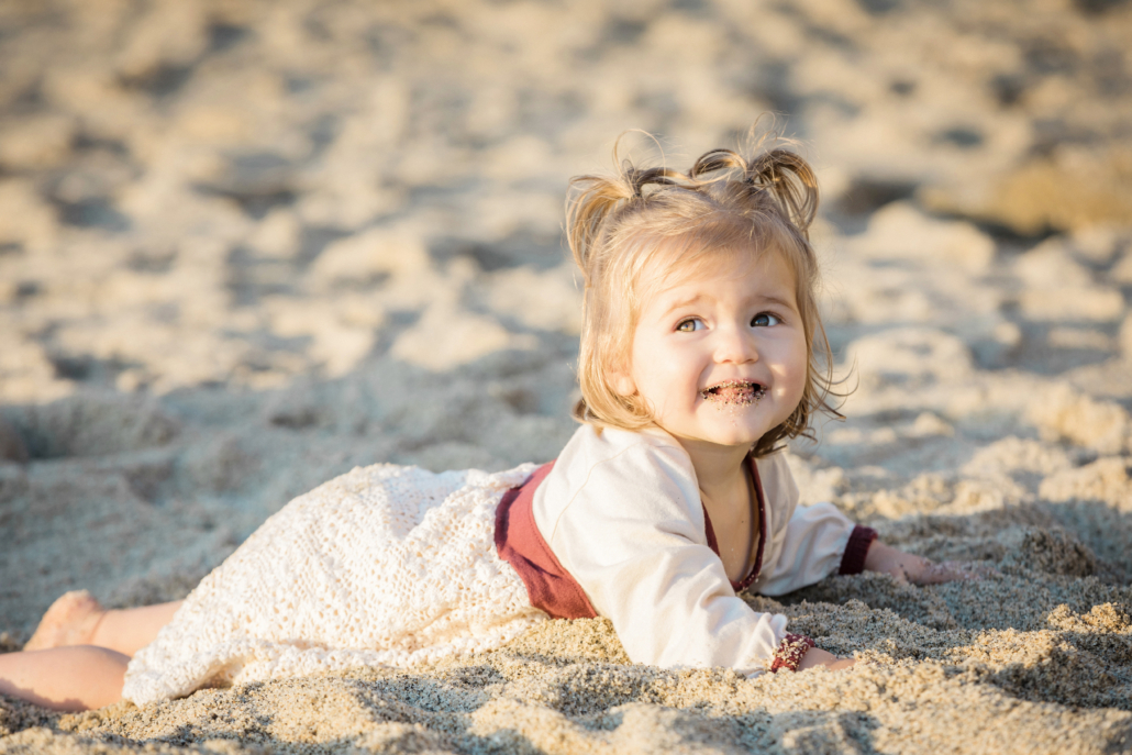 Baby beach portrait