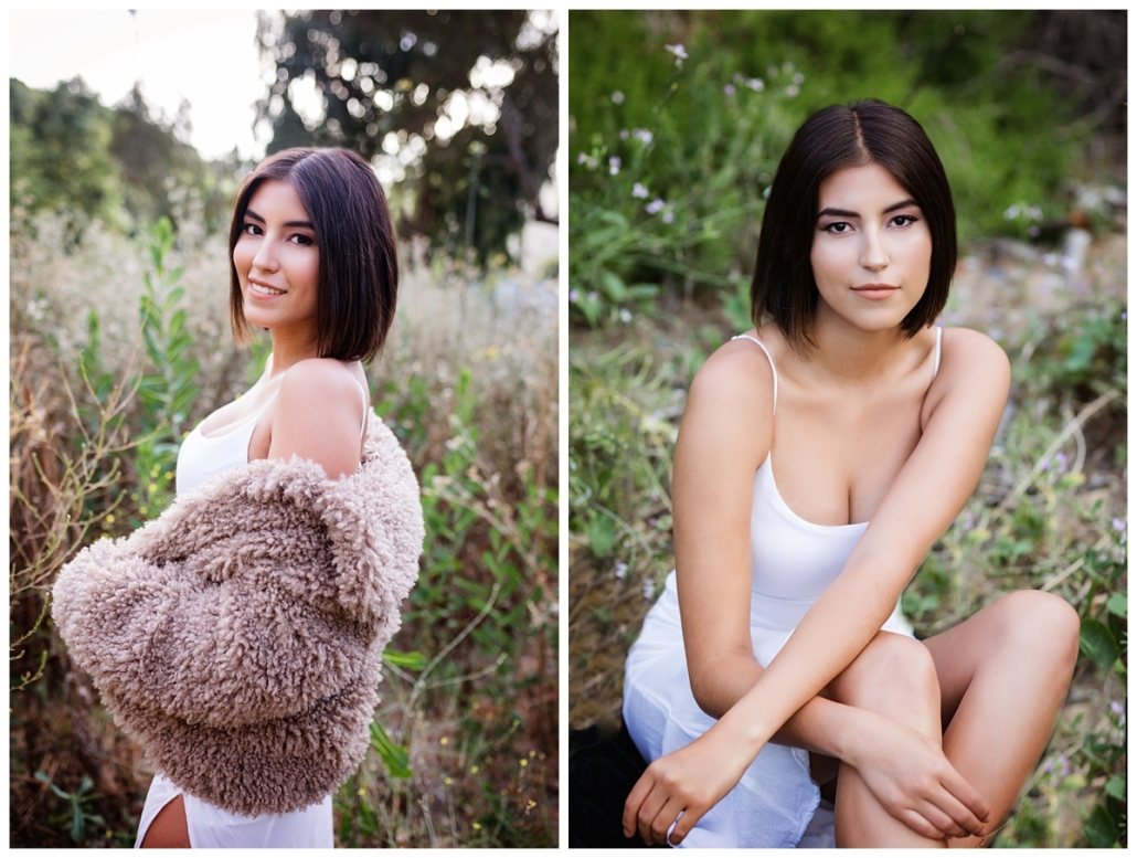 Boho inspired high school senior portrait in Laguna Canyon