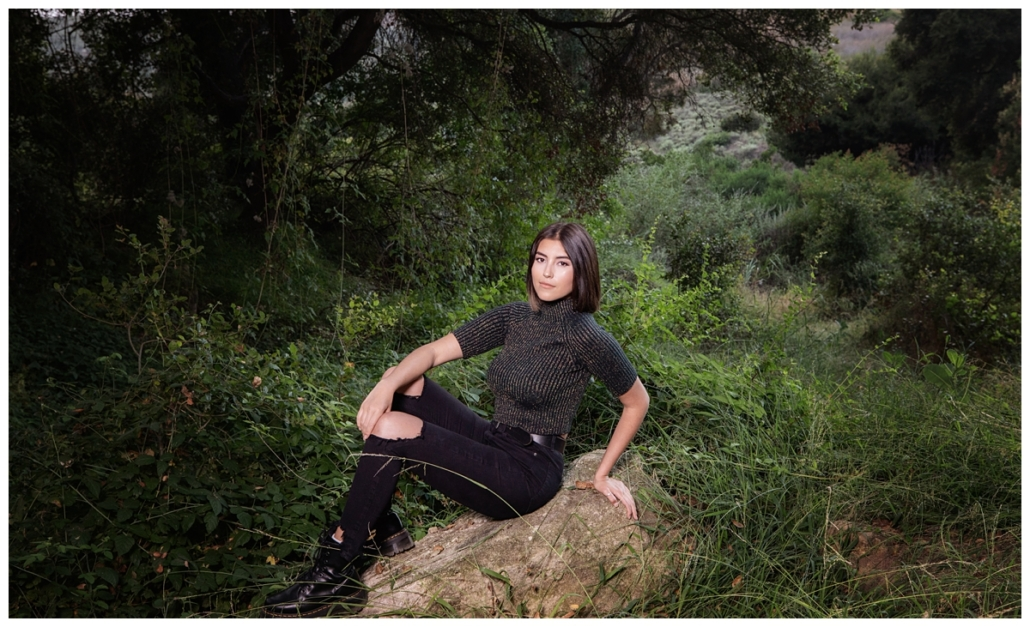 High School Senior photographed on hiking trails in Laguna Beach