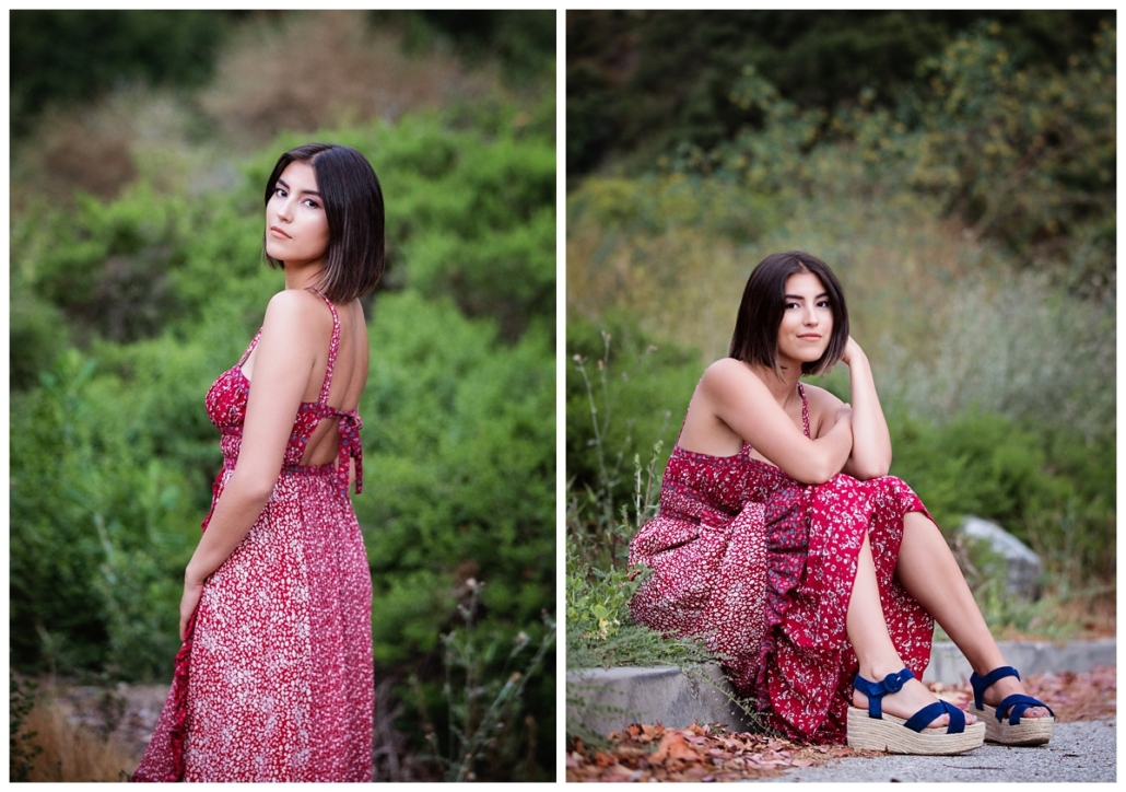 High school senior boho photoshoot in Laguna Beach