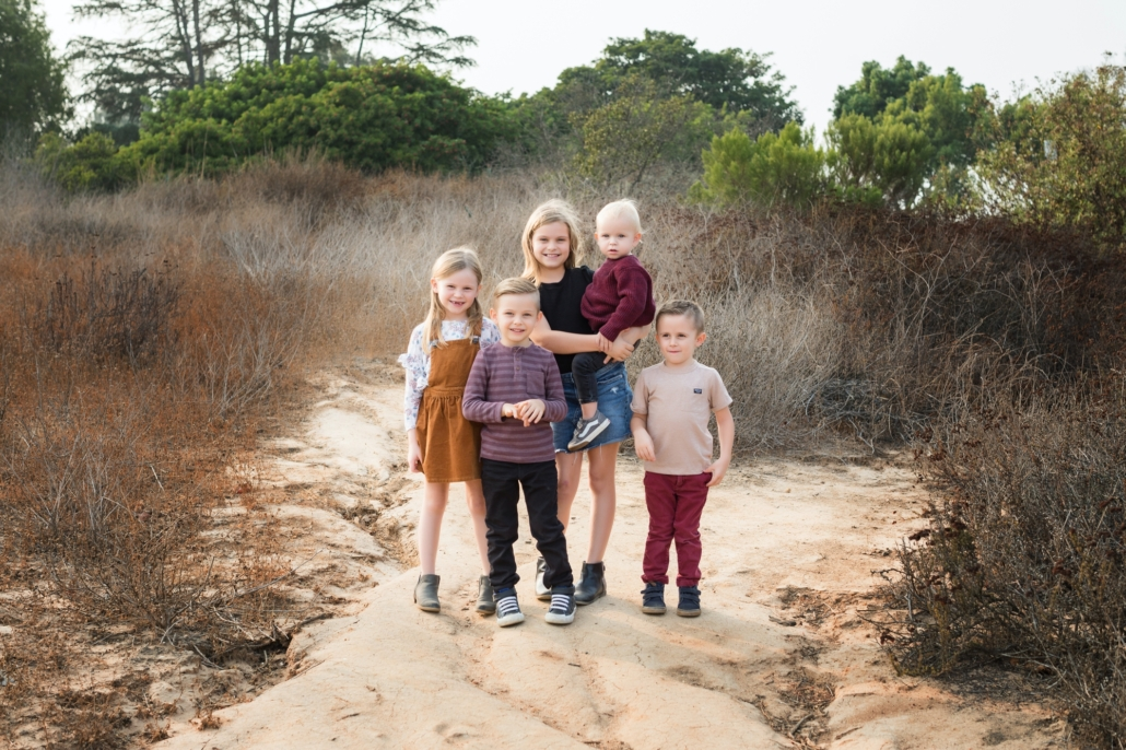 Orange County family photography shoot at the Upper back bay in Newport beach with Fall inspired outfits
