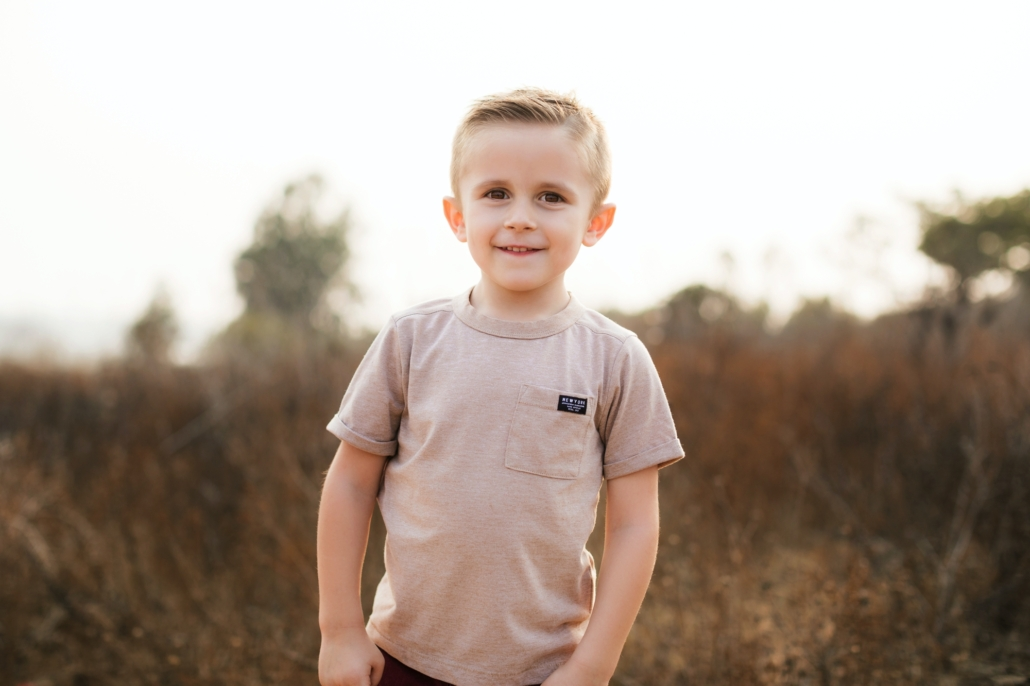 Kids portrait session in Orange County at Upper Back Bay in Newport Beach