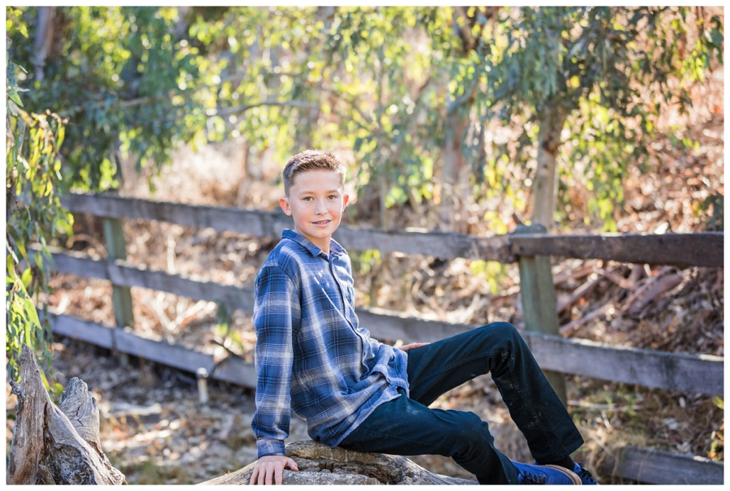 Youngest brother portraits at Nellie Gail trails in Orange County.