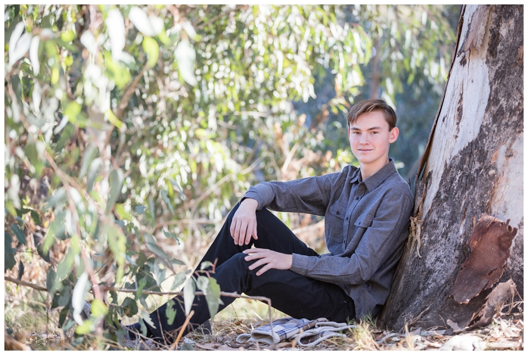Teenage boy photographed on the horse trails in Orange County