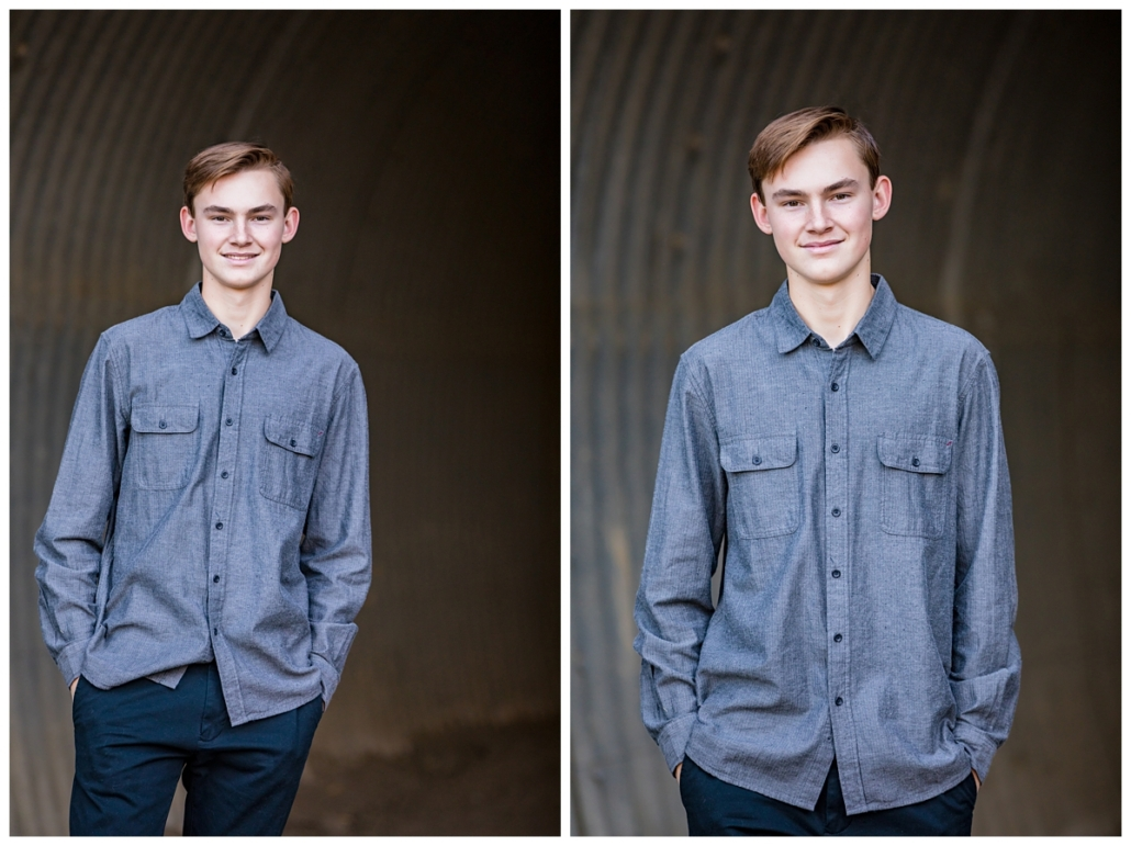 Teenage boy at a family photography session in Orange County