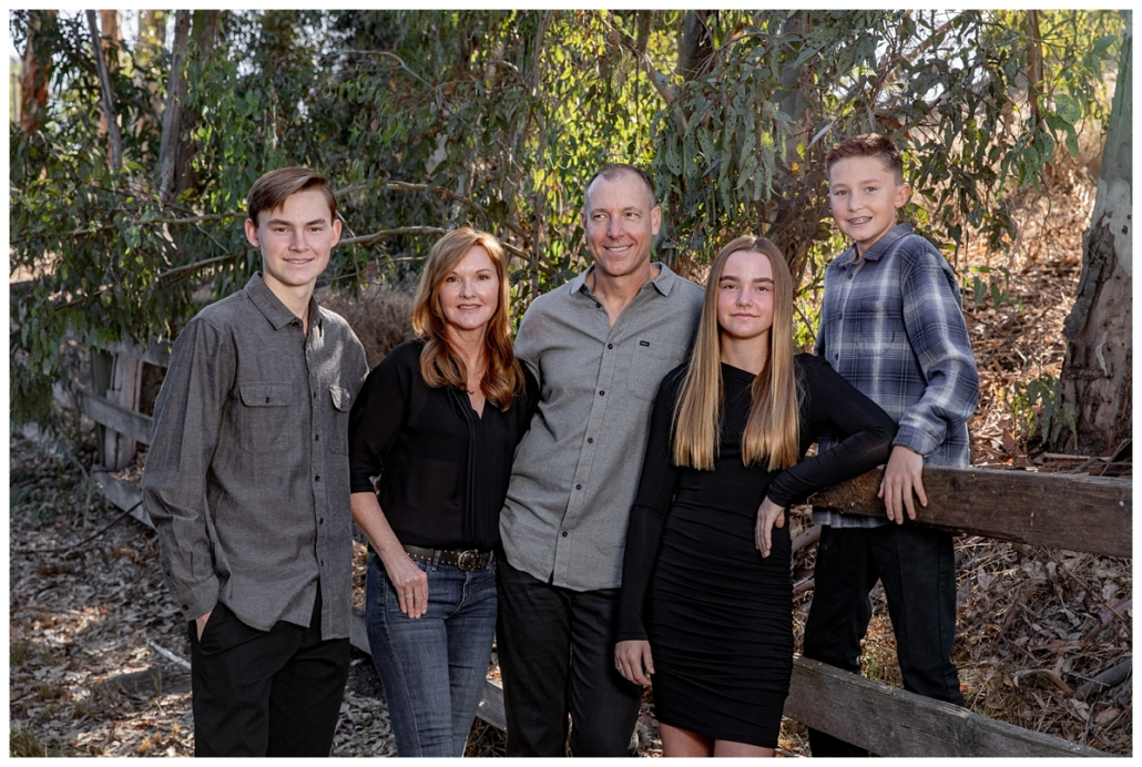 Fall family portraits in Orange County on Nellie Gail Trails.