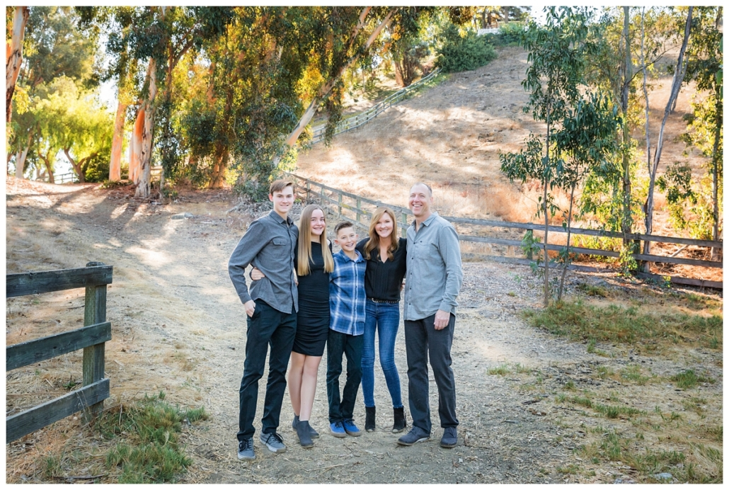 OC family photographed on the horse trails in Nellie Gail.