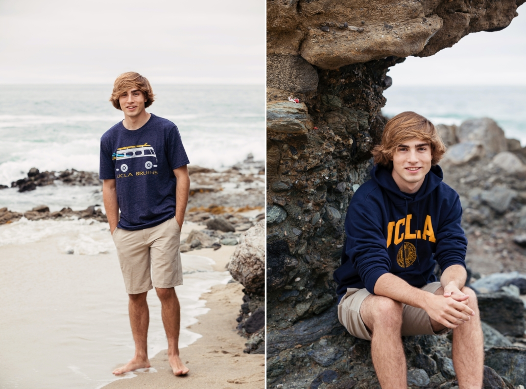 UCLA incoming freshman senior portraits at Laguna Beach.