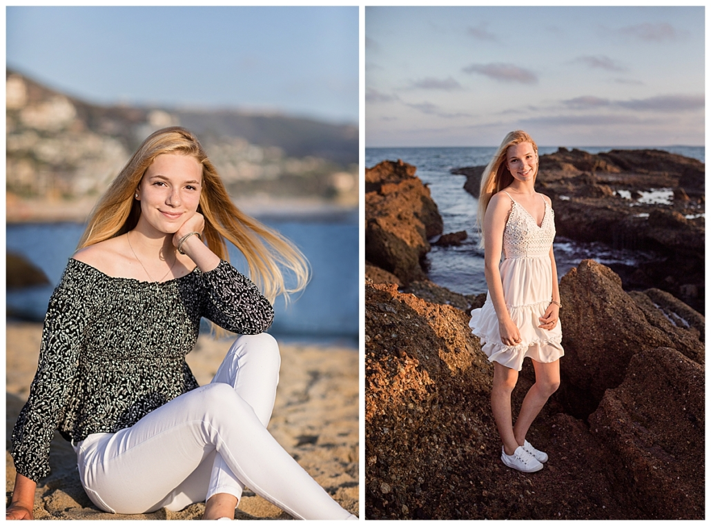 Laguna Beach High School senior portraits at the beach