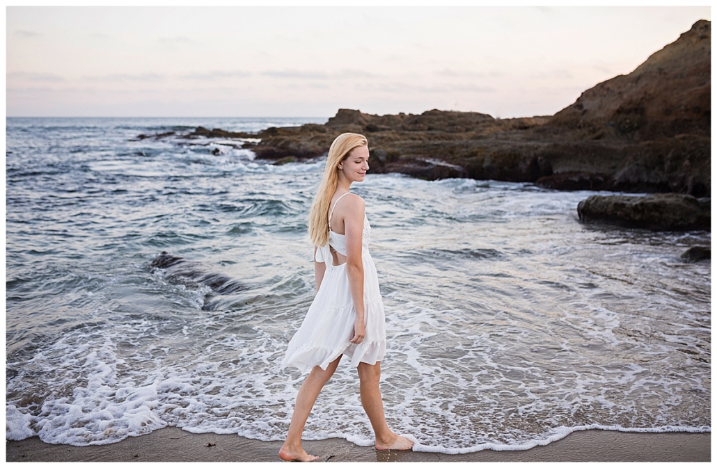 Orange County destination high school senior portraits at the beach