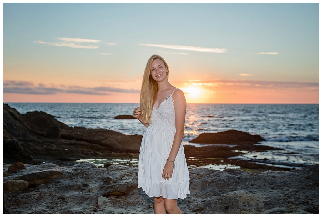 Sunset beach session in Laguna Beach for a high school senior
