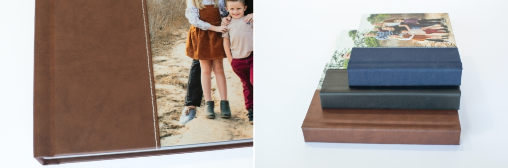Custom designed photography album of a family with 5 kids under 10 years old in Upper Newport Back Bay