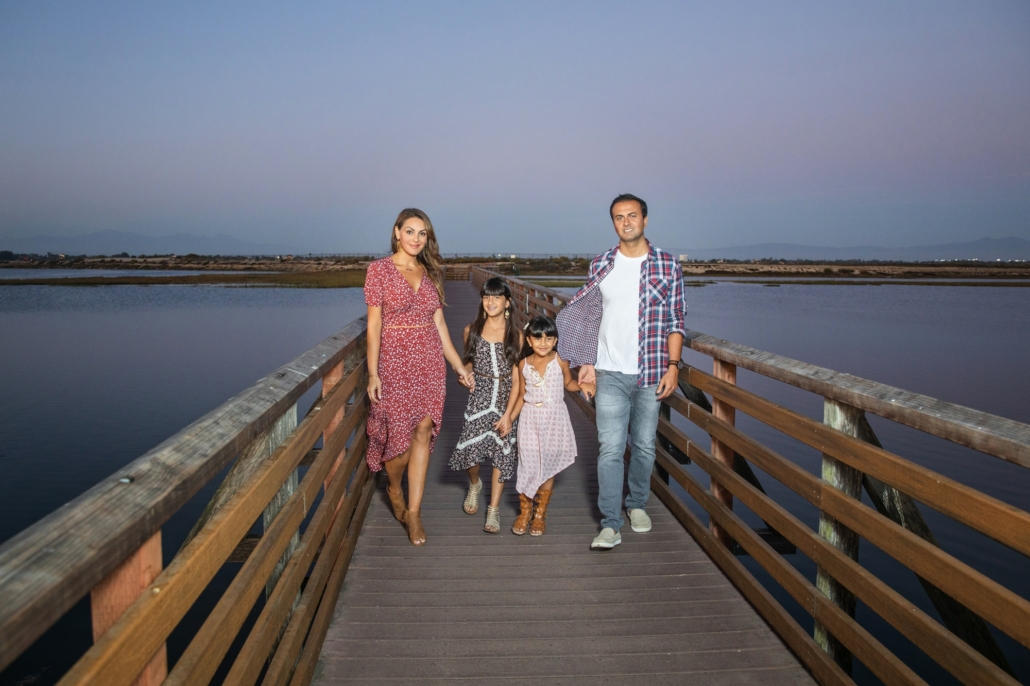 Sunset family portrait session in Orange County Family
